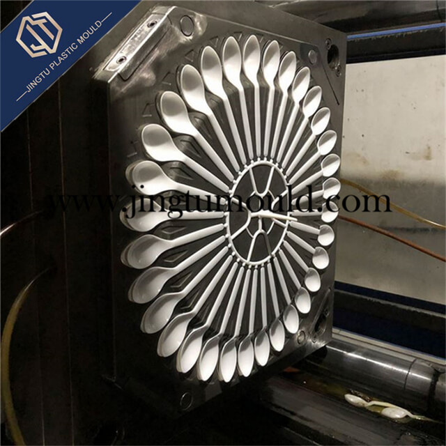 Injection Mold for Disposable Plastic Spoon